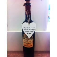 Presenthjärta med vin text I cook.....
