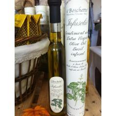 Italiensk extra virgin olivolja med basilica smak