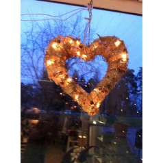 Stort hjärta med belysning