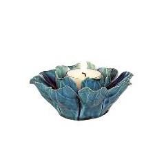 Ljuslykta Furiosa turkos keramik
