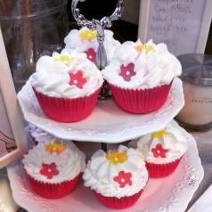 Flower Power cupcake för badet/fotbadet