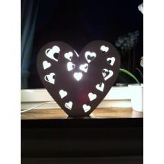 Stående lampa hjärta