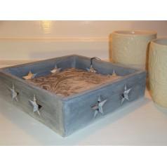Servett låda grå stjärna