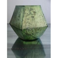 Ljuslykta Grön i återanvänt glas.