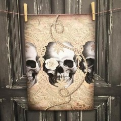 "Poster ""Lacy Skull Row"" design Van Asch design."